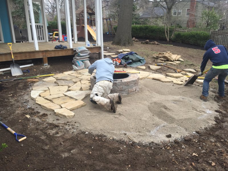 Flagstone-patio-with-manufactured-block-fireplace-3