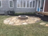 Flagstone-patio-with-manufactured-block-fireplace-7
