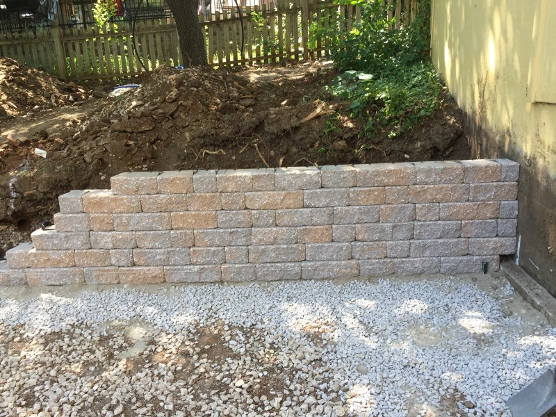 Integral Color Concrete Walls : Landscape project photo gallery hometown lawn llc