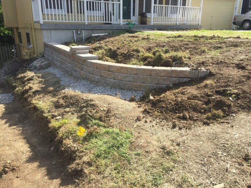 Custom-two-level-retaining-wall-patio-progress-21