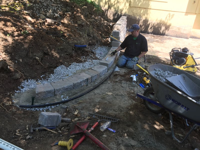 Custom-two-level-retaining-wall-patio-progress-22