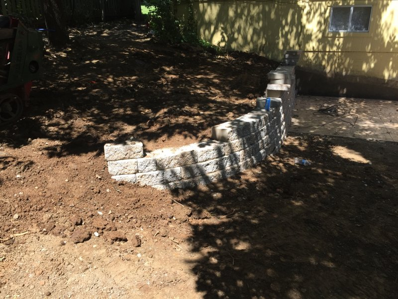 Custom-two-level-retaining-wall-patio-progress-27