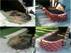 Before and After - Stacked Block Retaining Wall