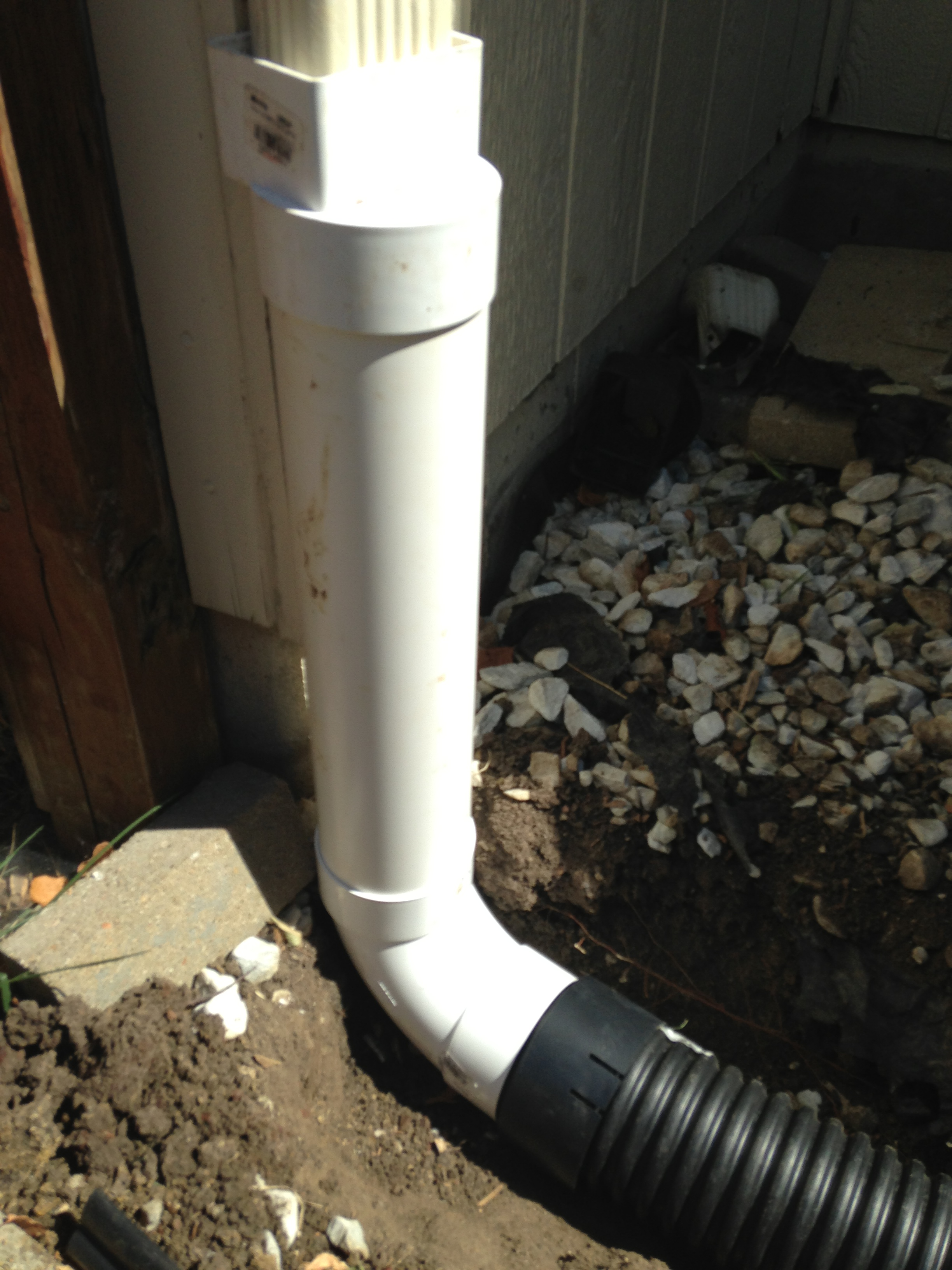 Drainage solutions hometown lawn llc for Downspout drain