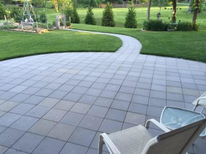 basic square paver patio