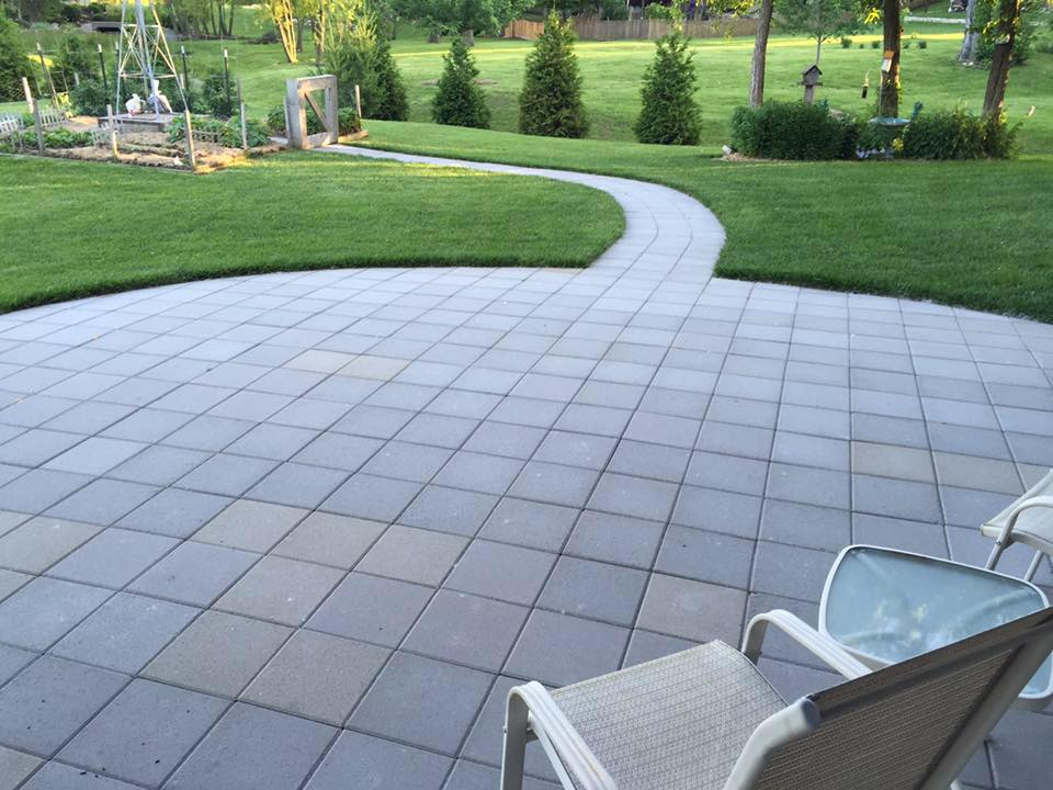 basic square paver patio - Hometown Lawn, LLC on Square Concrete Patio Ideas id=32192