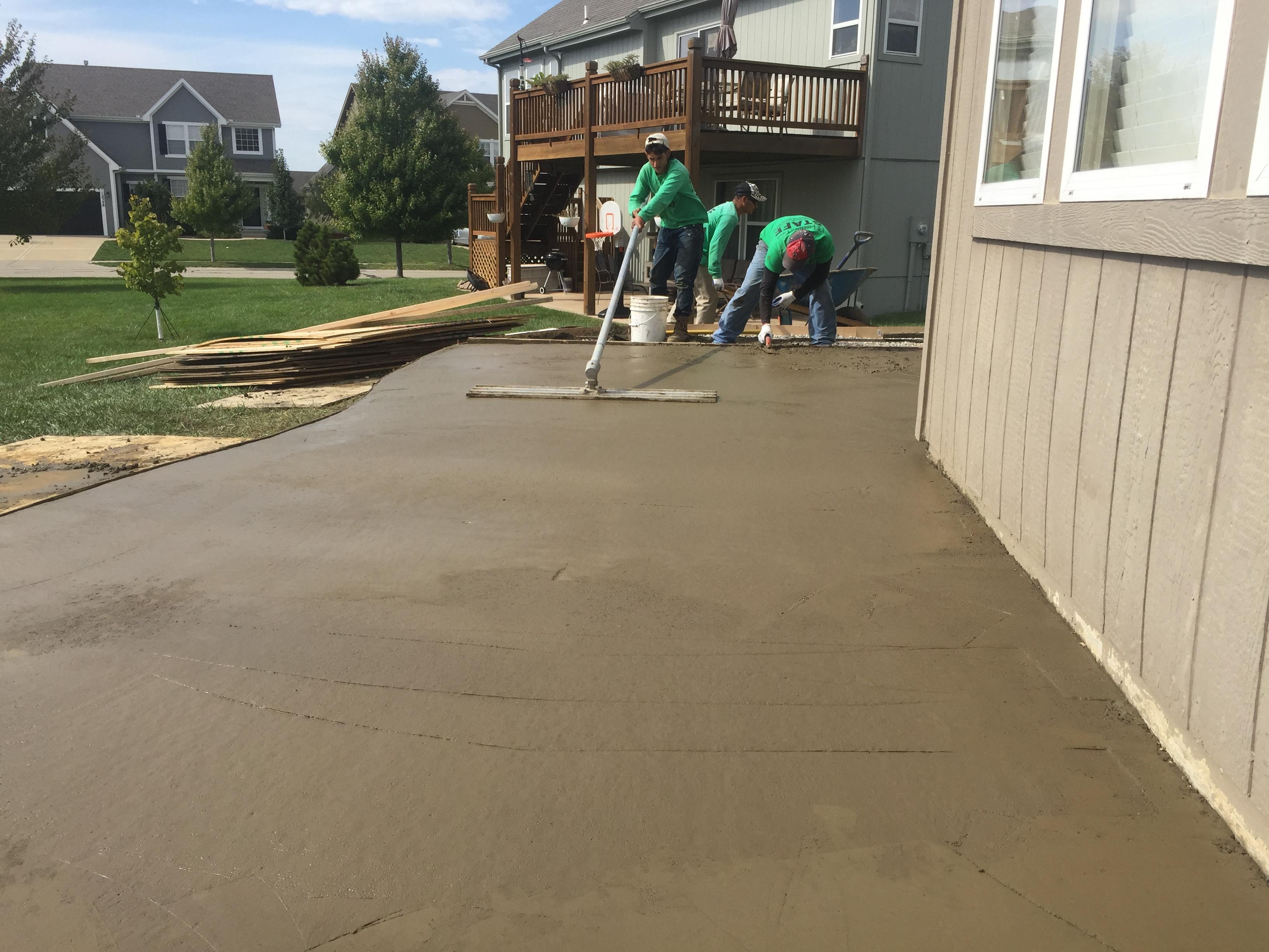 Concrete U2013 Colored Stamped Patio U2013 Finishing 1
