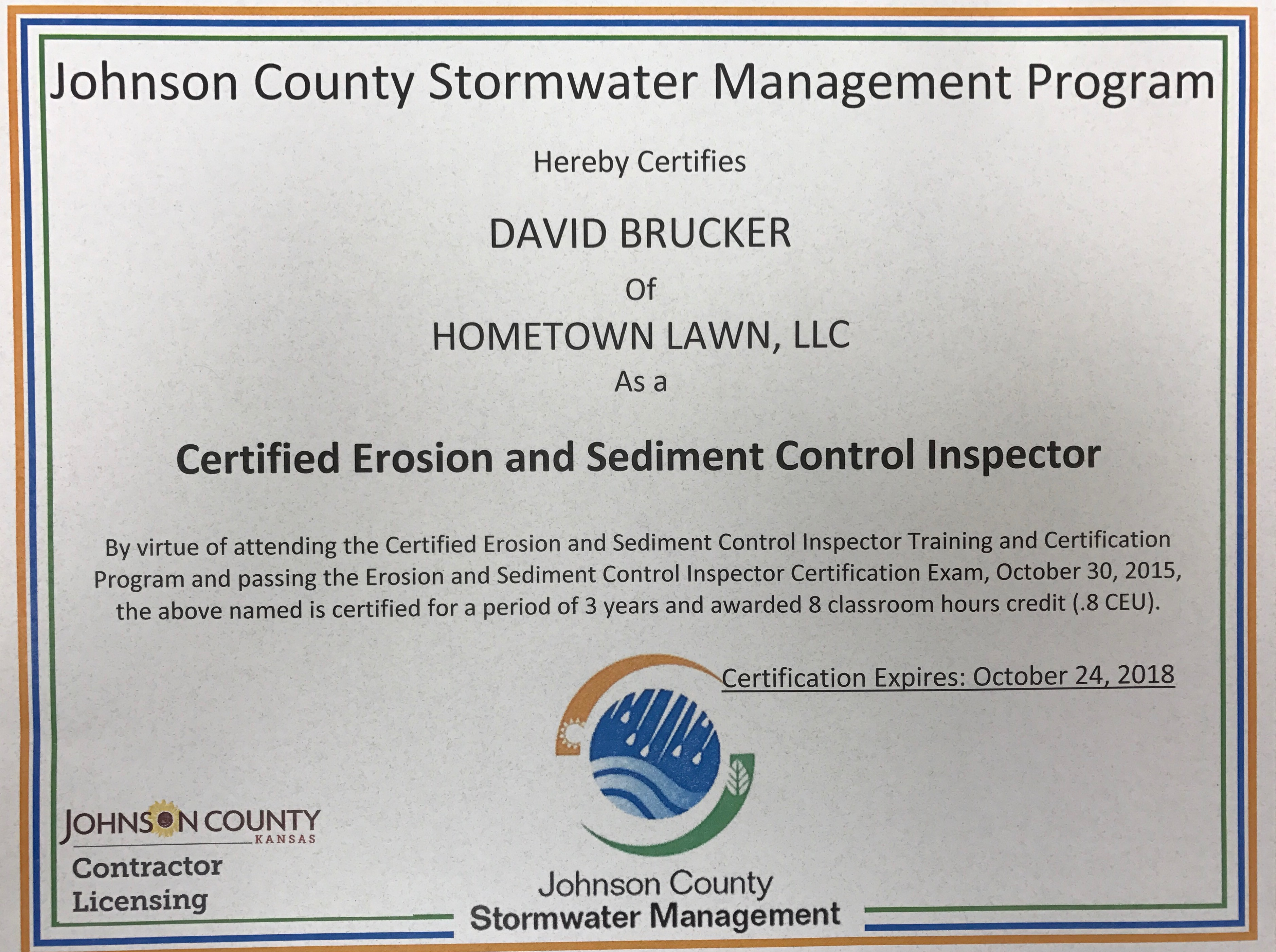 Swppp Bmp Design Insp Install Removal Hometown Lawn Llc
