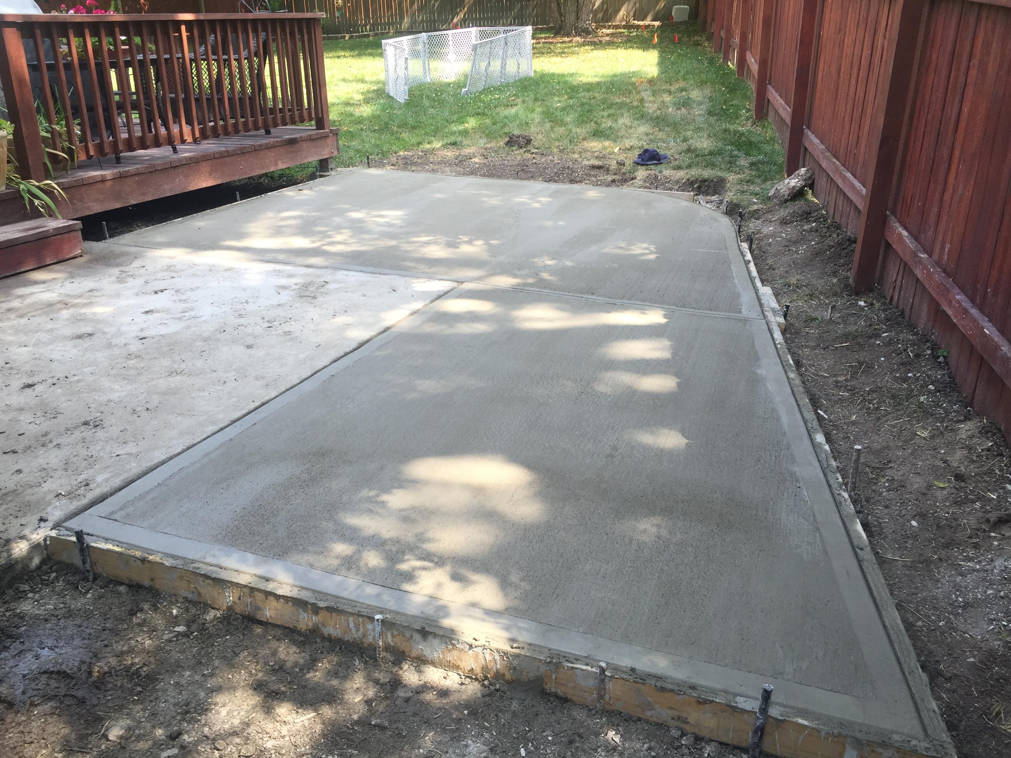 htl u2013 concrete u2013 backyard patio enlargement 3 u2013 hometown lawn llc