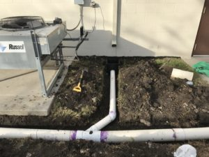 commercial drainage problem resolution