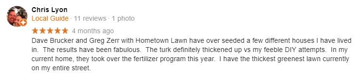 Mills Farm Lawn Care Fertilizer Testimonial