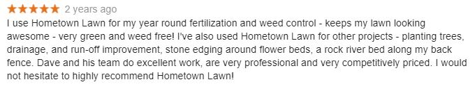 Olathe Turf Fertilizer Testimonial